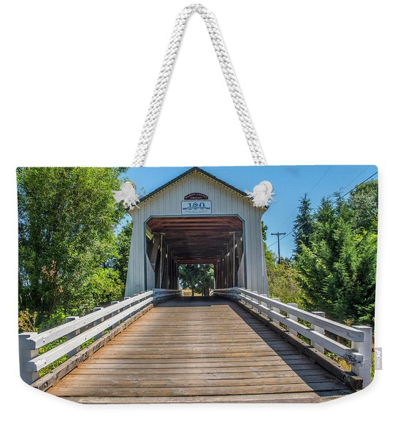 Gallon House Covered Bridge Weekender Tote Bag