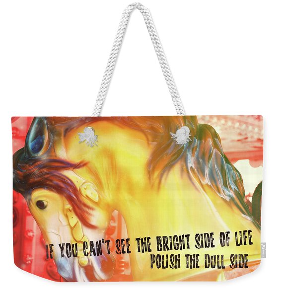 Galloper Quote Weekender Tote Bag