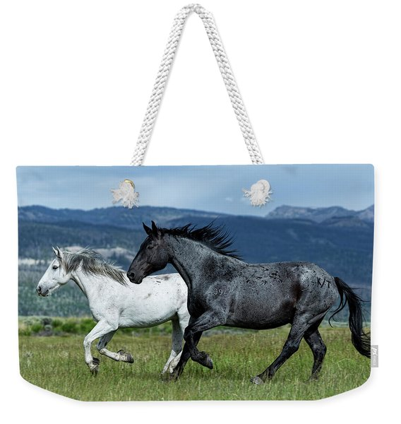 Galloping Through The Scenery Weekender Tote Bag