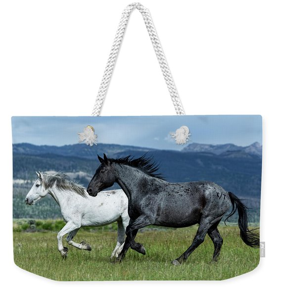 Galloping Through The Scenery Weekender Tote Bag