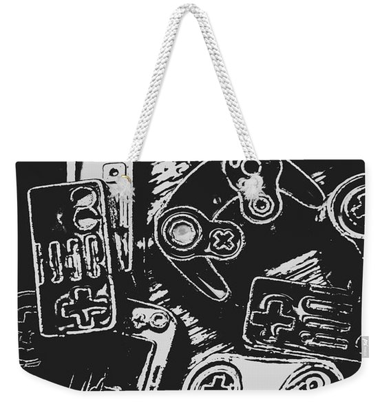 Game Play In Blocks And Lines Weekender Tote Bag