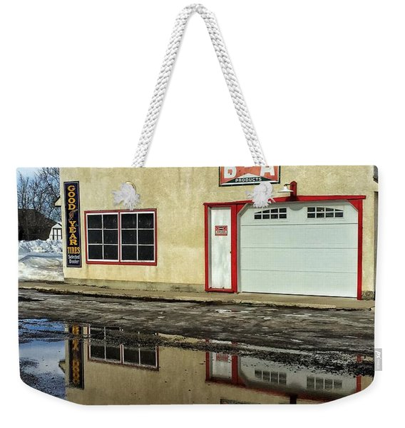 Garage Reflection Weekender Tote Bag