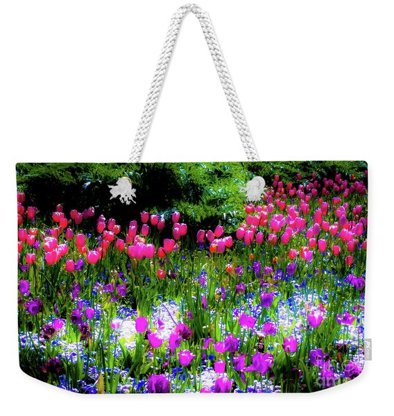 Garden Flowers With Tulips Weekender Tote Bag