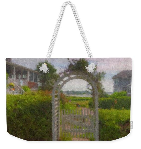 Garden Gate Falmouth Massachusetts Weekender Tote Bag