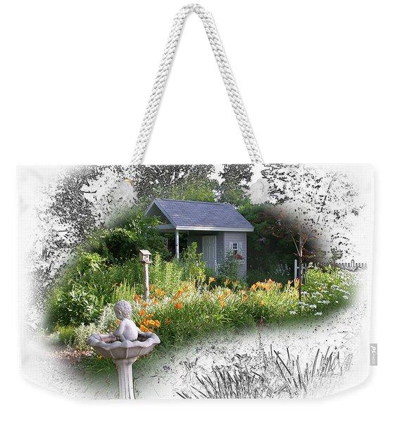 Garden House Weekender Tote Bag