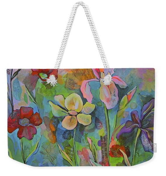 Garden Of Intention - Triptych Center Panel Weekender Tote Bag
