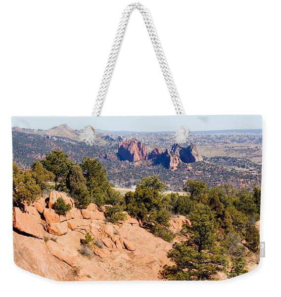 Garden Of The Gods And Springs West Side Weekender Tote Bag