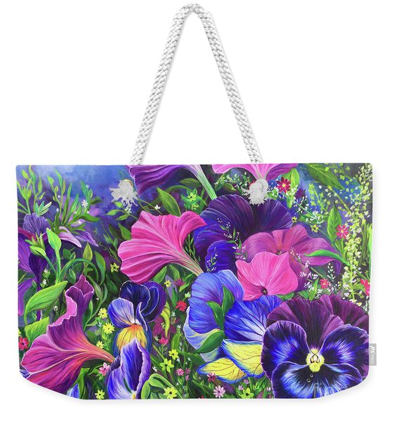 Garden Party Weekender Tote Bag