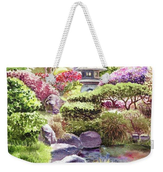 Garden Path To Pagoda Weekender Tote Bag