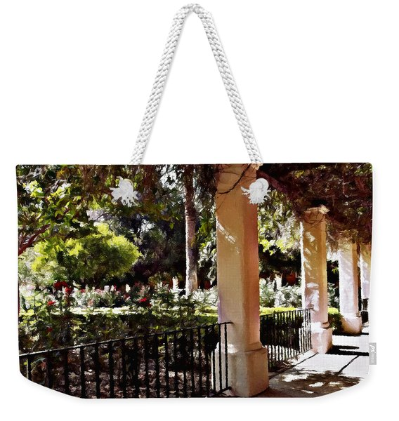 Garden Promenade - San Fernando Mission Weekender Tote Bag