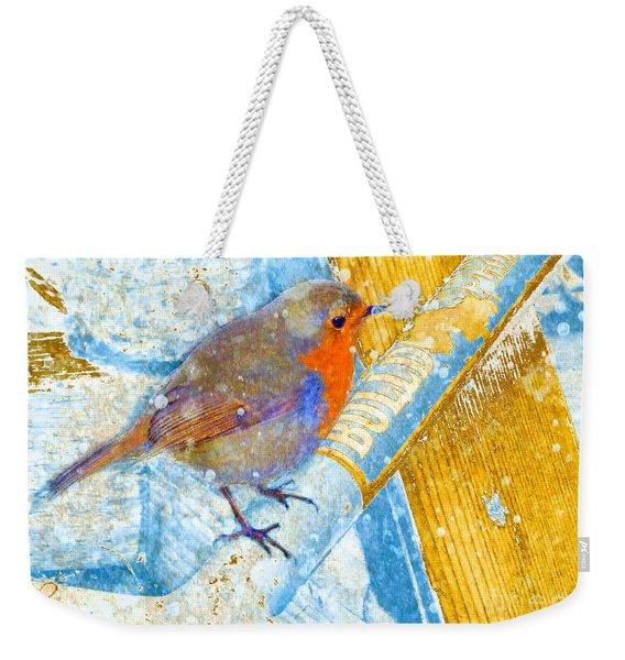 Garden Robin Weekender Tote Bag