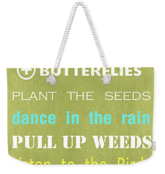 Garden Rules Weekender Tote Bag