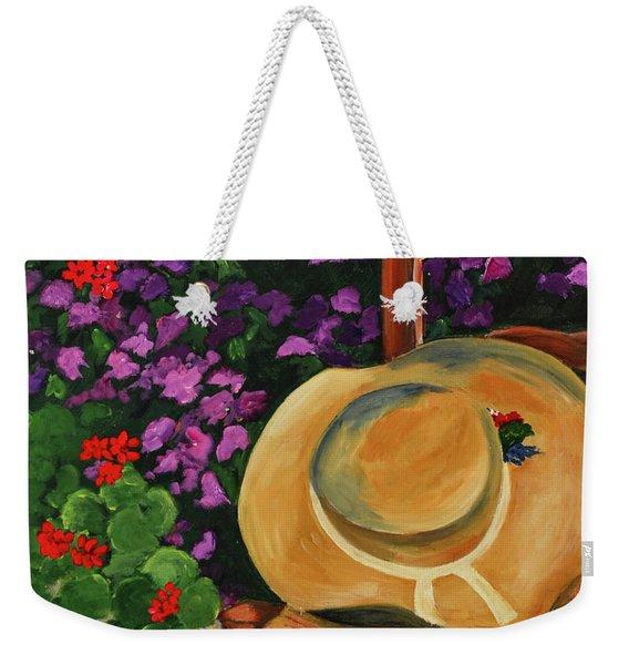 Garden Scene Weekender Tote Bag