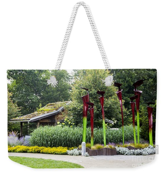 Garden Shed With Pitcher Plant Sculpture Weekender Tote Bag