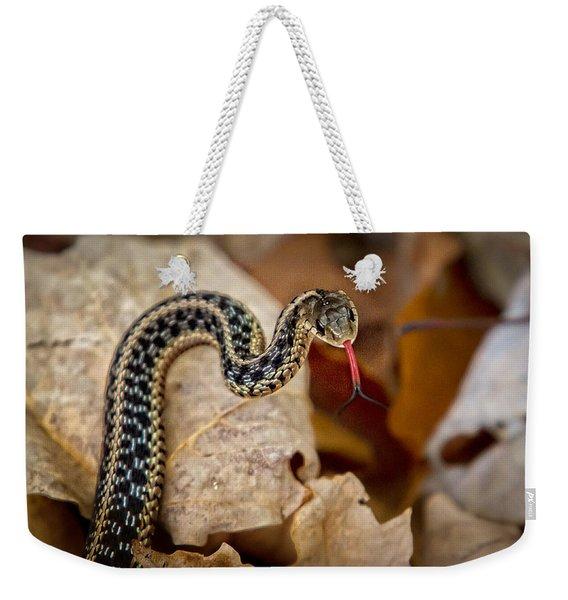 Garden Snake Weekender Tote Bag