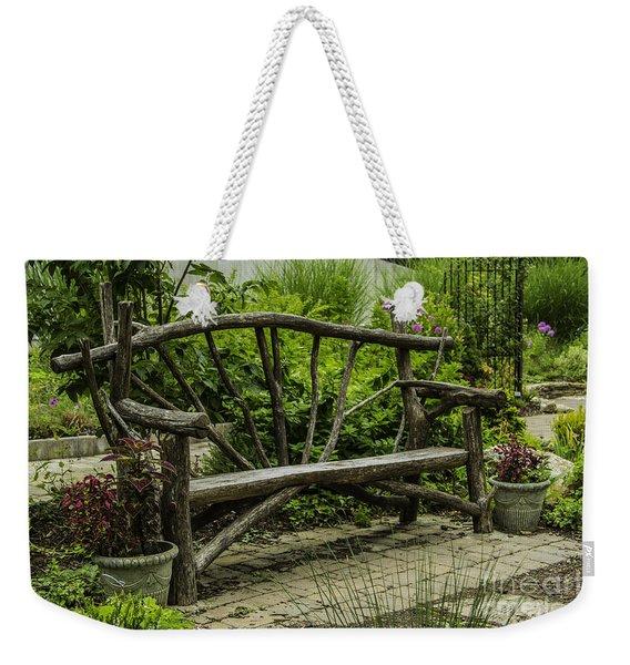 Garden Tree Bench Weekender Tote Bag