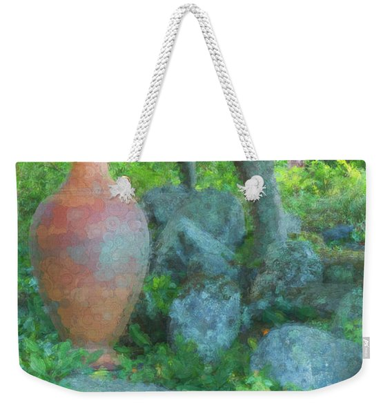 Weekender Tote Bag featuring the photograph Garden Urn by Tom Singleton
