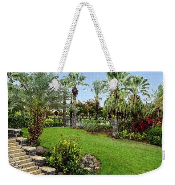 Gardens At Mount Of Beatitudes Israel Weekender Tote Bag