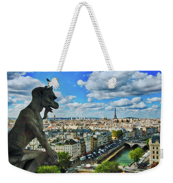 Gargoyle With A View Weekender Tote Bag