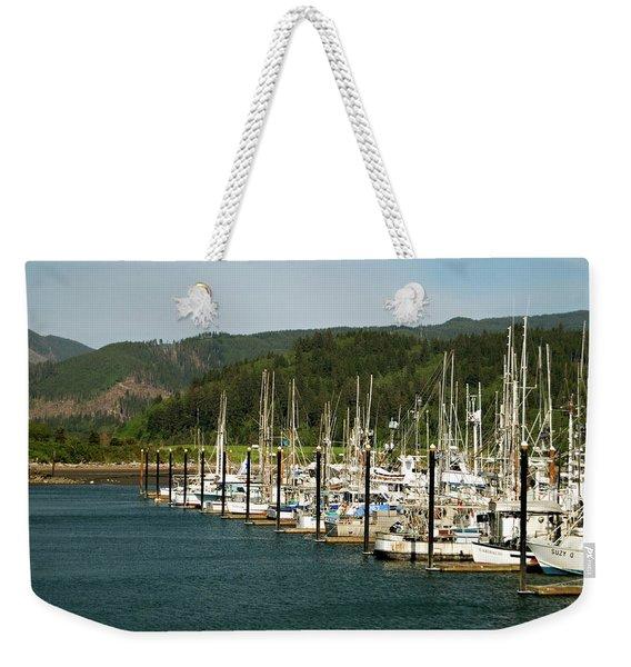 Garibaldi Oregon Marina Weekender Tote Bag