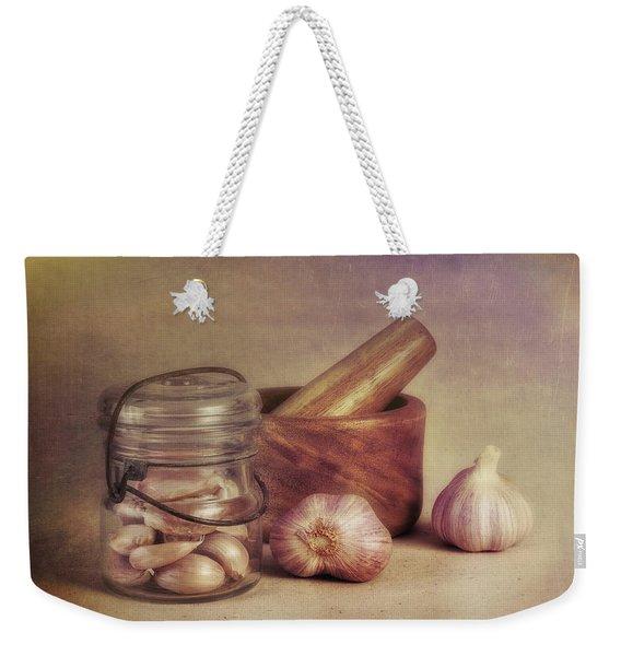 Garlic In A Jar Weekender Tote Bag