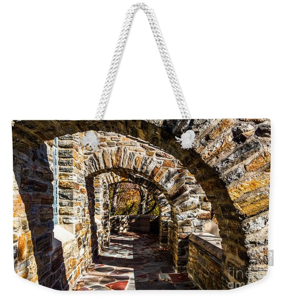 Weekender Tote Bag featuring the photograph Garrett Chapel Balcony by William Norton