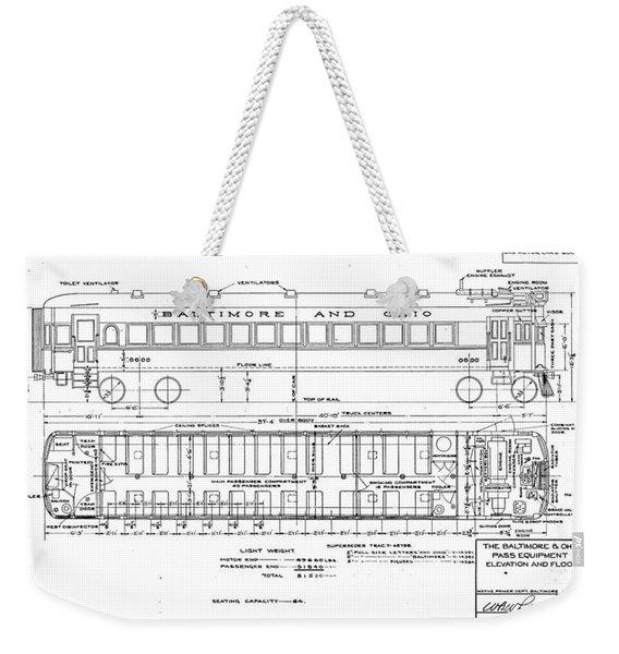 Gas Electric Car Diagram Weekender Tote Bag