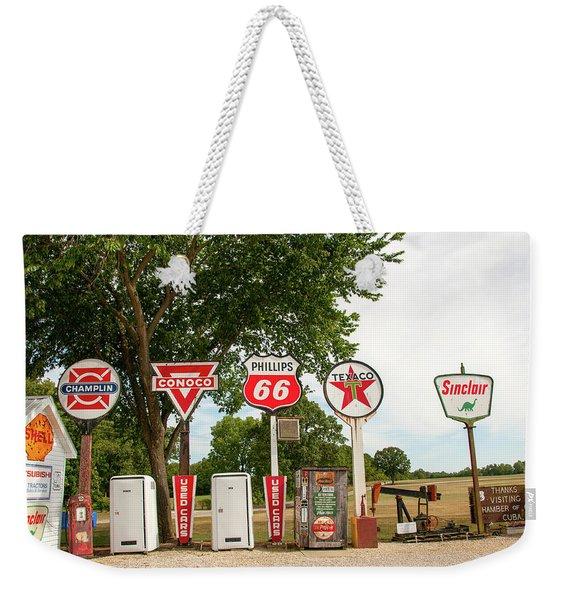 Gas Signage Weekender Tote Bag