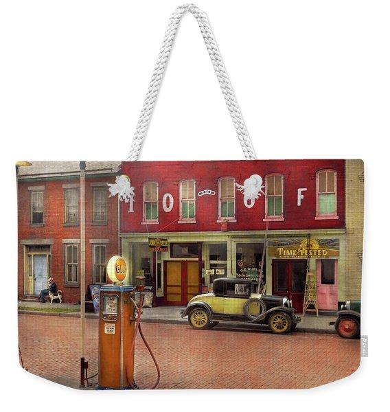 Gas Station - Lazy Saturday's 1935 Weekender Tote Bag