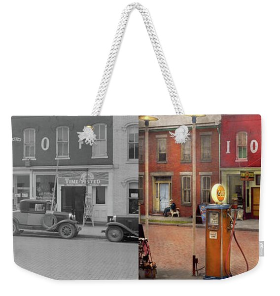 Gas Station - Lazy Saturday's 1935 - Side By Side Weekender Tote Bag