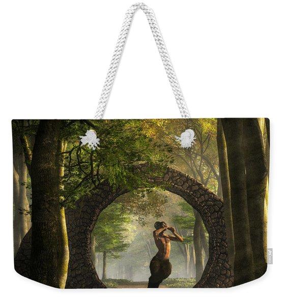 Gate To Pan's Garden Weekender Tote Bag