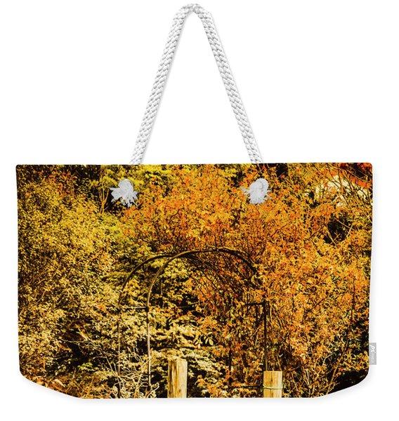 Gates In Fall Weekender Tote Bag