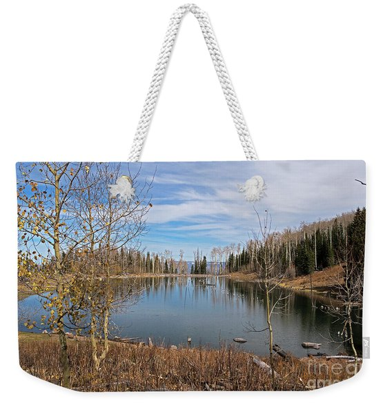 Gates Lake Weekender Tote Bag