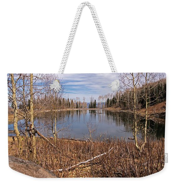 Gates Lake Ut Weekender Tote Bag
