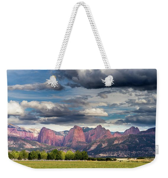 Gathering Storm Over The Fingers Of Kolob Weekender Tote Bag