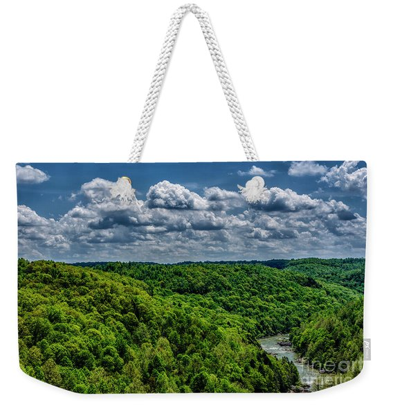 Gauley River Canyon And Clouds Weekender Tote Bag