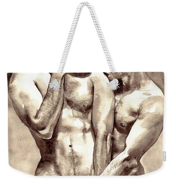 Gay Love Watercolor Weekender Tote Bag