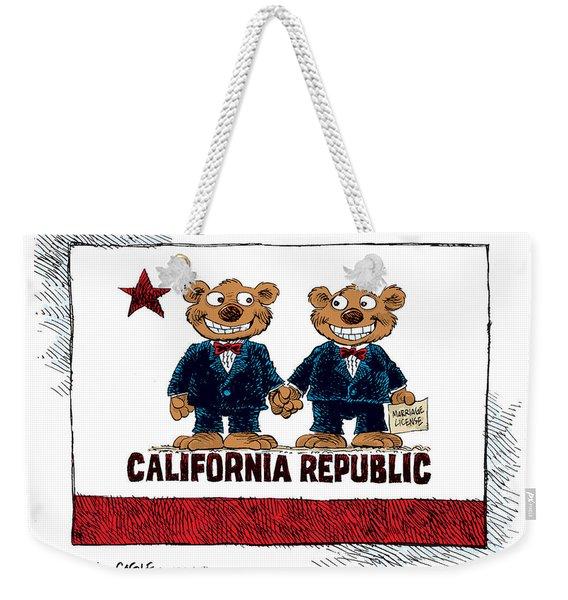Gay Marriage In California Weekender Tote Bag