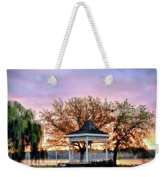 Gazebo Sunrise At Claytor Lake Weekender Tote Bag