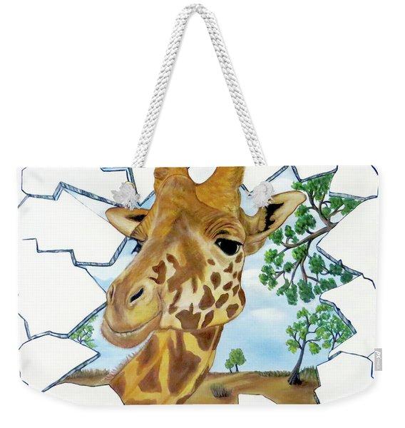 Gazing Giraffe Weekender Tote Bag