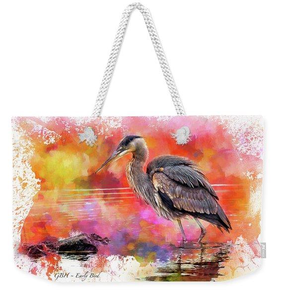 Great Blue  Heron  Early Bird Weekender Tote Bag