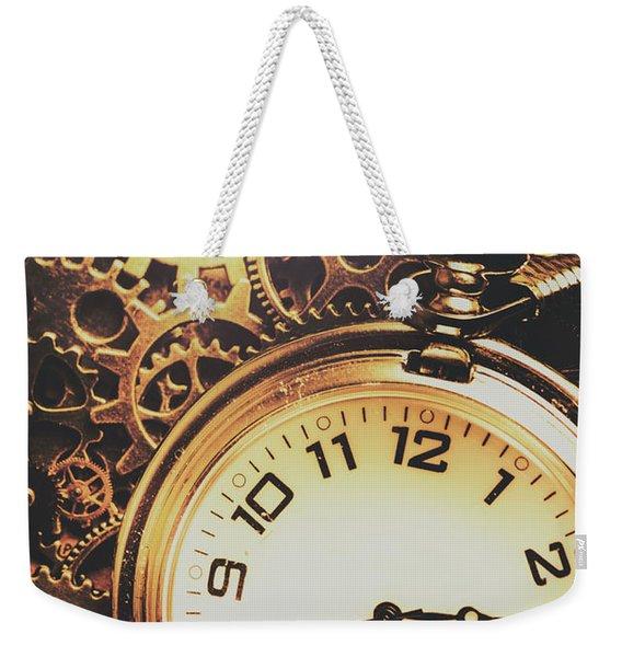 Gears Of Time Travel Weekender Tote Bag