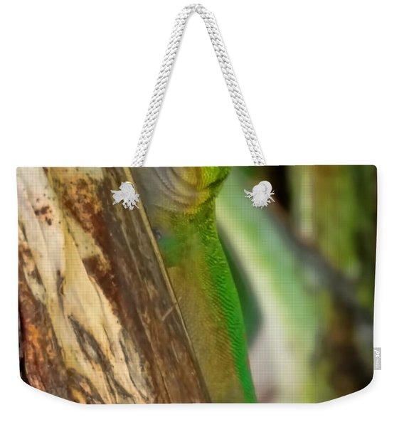 Gecko Up Close Weekender Tote Bag
