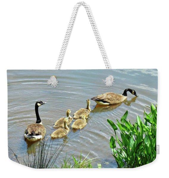 Geese And Goslings Weekender Tote Bag
