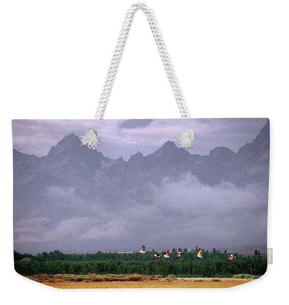 Geese, Grand Tetons Weekender Tote Bag