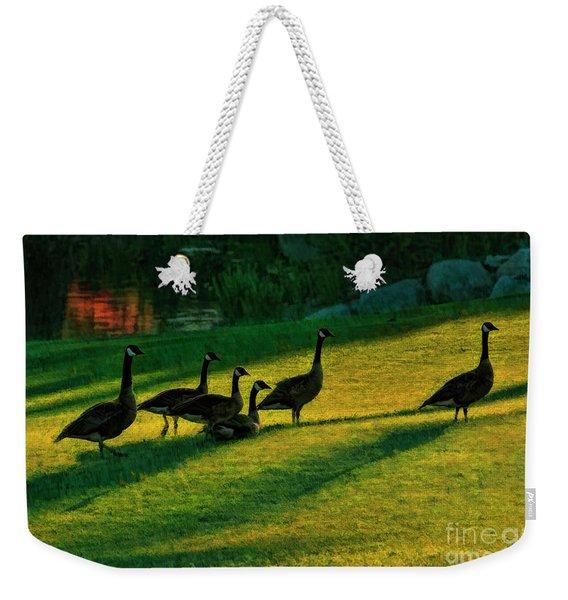 Geese The Perfect Pattern Weekender Tote Bag