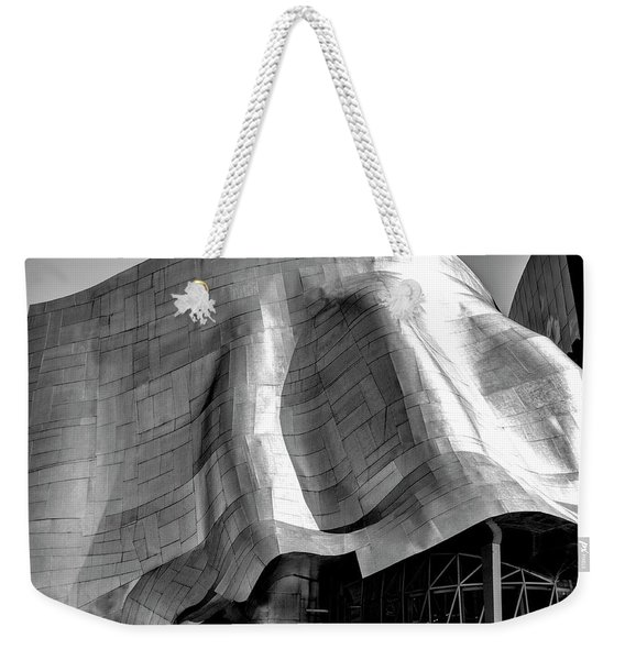 Weekender Tote Bag featuring the photograph Gehry Emp Seattle by Michael Hope