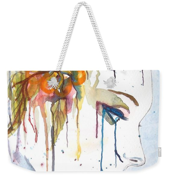 Geisha Soul Watercolor Painting Weekender Tote Bag