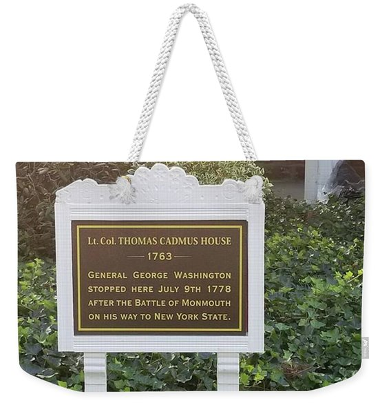 Gen. George Washington Stopped Here Weekender Tote Bag