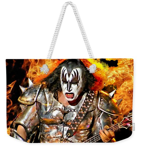 Gene Simmons Kiss Weekender Tote Bag